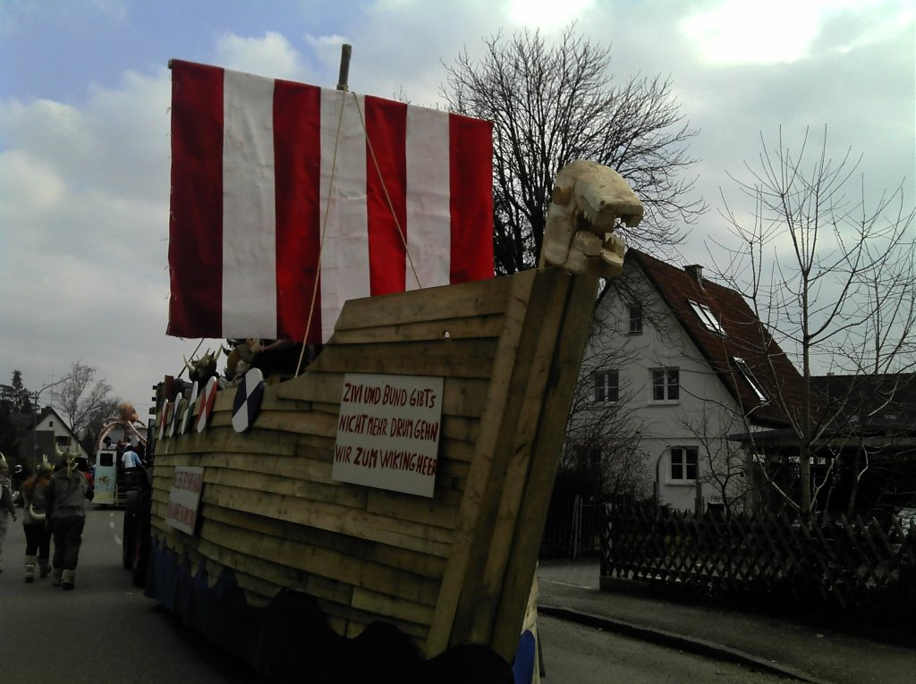 Burschenverein Gernlinden E V Faschingszug 2011 Wikinger
