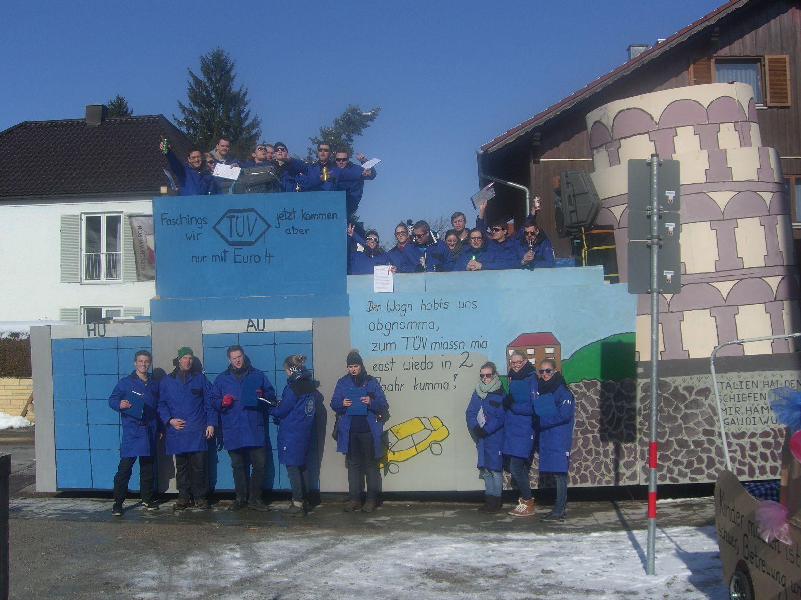 Burschenverein Gernlinden Ev Faschingszug 2013 Der